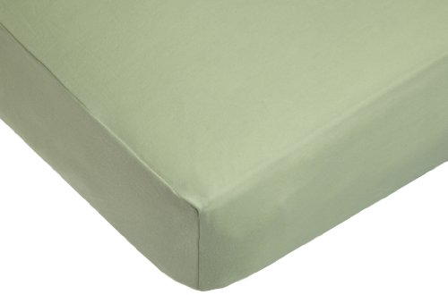 American Baby Company Organic Cotton Interlock Crib Sheet, Sage
