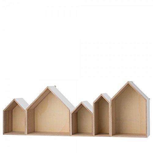 Holzhaus Regal weiß/grau von Bloomingville