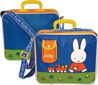 Shreds Miffy Travel Case,shoulder strap,handle,blue by Shreds