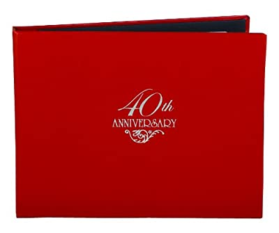 Hortense B. Hewitt Wedding Accessories 40th Anniversary Guest Book
