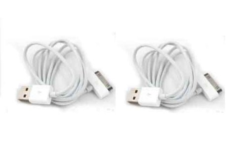 2 x iPhone 4s / 4 iPad 2 USB Data Transfer / Sync / Charging Cable Compatible with iPhone 4s 4 3GS iPad 2 iPad iPod Classic , Touch, Mini, Shuffle - High Grade Premium Quality Cable