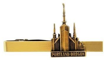 LDS Portland Oregon Temple Gold Steel Tie Bar - Tie Clip - Priesthood Gift, LDS Missionary, Tie Clip
