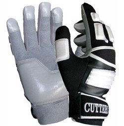 Cutters The Reinforcer Football Gloves (Black, X-Large)