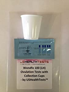 Wondfo 100 (LH) Ovulation Tests with Collection Cups by USHealthTests from Wondfo