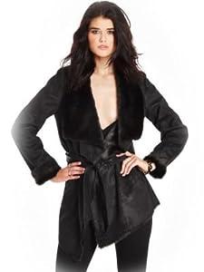 GUESS by Marciano Women's Joelle Reversible Faux-Fur Wrap Coat