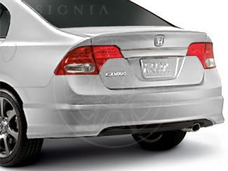 Honda Genuine Accessories 08F03-SVA-110A Taffeta White Rear Underbody Spoiler for Select Civic Models