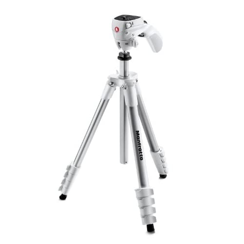 Manfrotto アクション三脚 COMPACTシリーズ フォト・ムービーキット アルミ 5段 ホワイト MKCOMPACTACN-WH