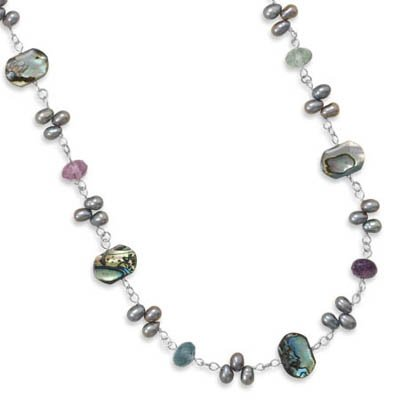Genuine Elegante (TM) .925 Sterling Silver 15.5