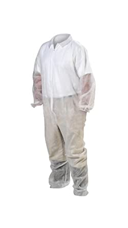 High Five AC237 Spunbond Polypropylene Coverall with Elastic Wrists and Ankles, 4X-Large, White (Case of 25)