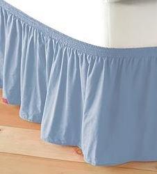 Adjustable Elastic Bed Skirt In Light Blue front-643215