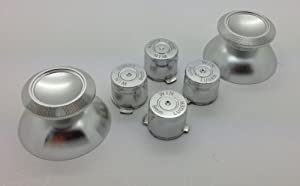 Metal Silver Bullet Buttons + Thumbsticks For Dual Shock 4 PS4 Controller Mod Kit