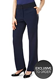 Twiggy for M&S Woman Straight Leg Panelled Trousers