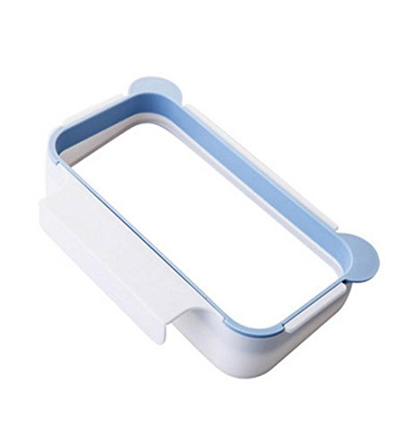 Mikey Store Hanging Kitchen Cabinet Trash Bag Holder Garbage Bags, Storage Rack (Blue) (Kitchen Store Cabinet compare prices)