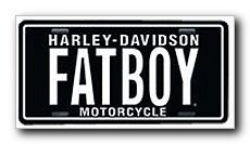 Harley Davidson FATBOY License Plate - #1863 by Chroma