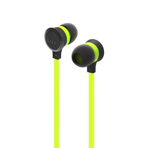 Iluv Iep334Grnn Neon Sound High-Performance Earphones, Green