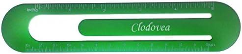 Bookmark  ruler with engraved name Clodovea first namesurnamenickname