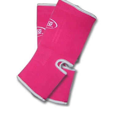 M NEON PINK DUO Muay Thai Kickboxing Ankle Support Anklets