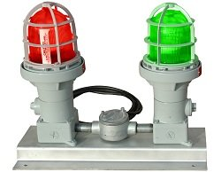 Explosion Proof Red Green Light - Class 1 & Class 2 Division 1 Traffic Light - Signal Stack Light (-