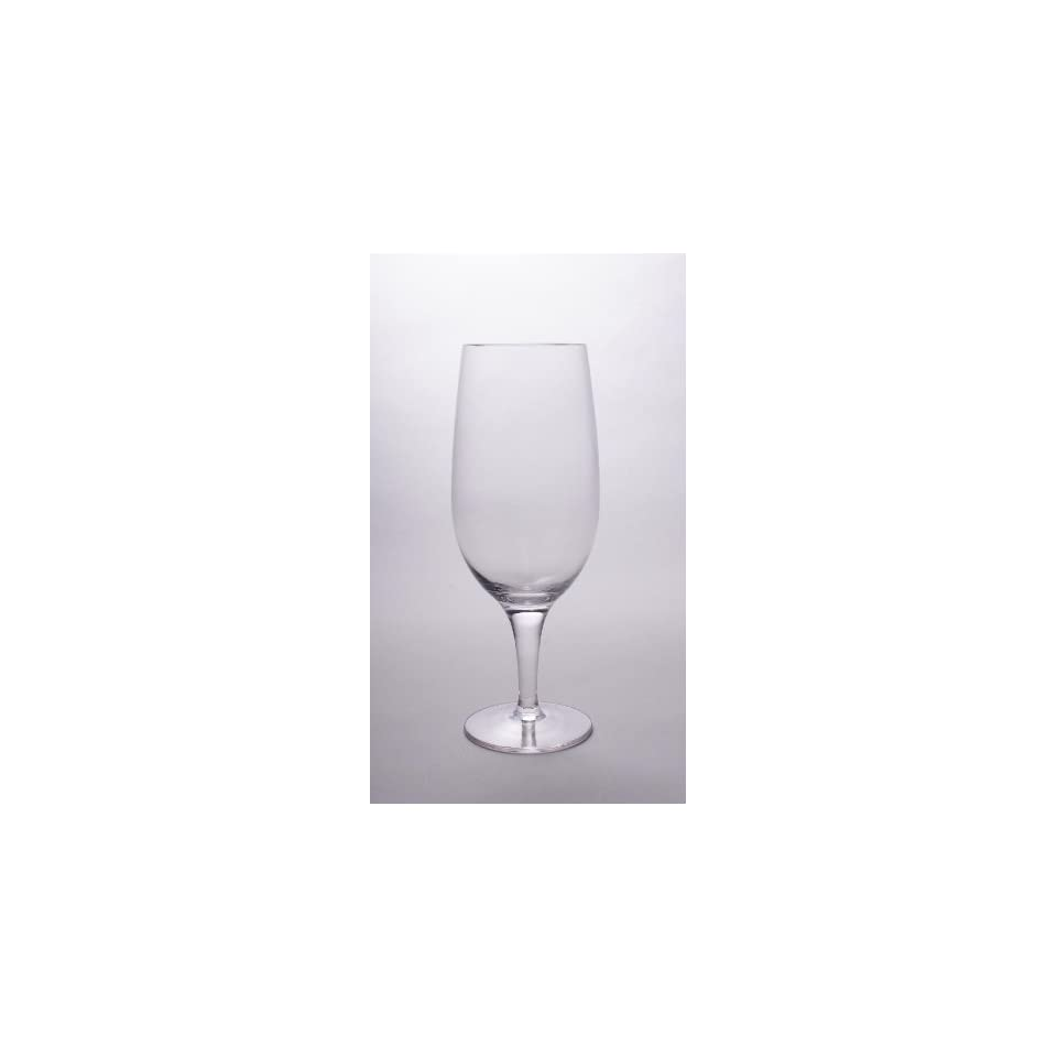 Set Of Four (4)   Romanian Glassware/Barware   Clear Crystal Glass   Sade Collection   16 Oz All Purpose Water / Beer Glasses