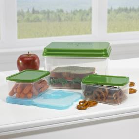 Fit & Fresh Lunch on the Go Reusable Lunch Containers