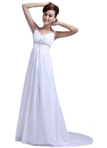 Faironly M22 Straps Chiffon Bridal Dress