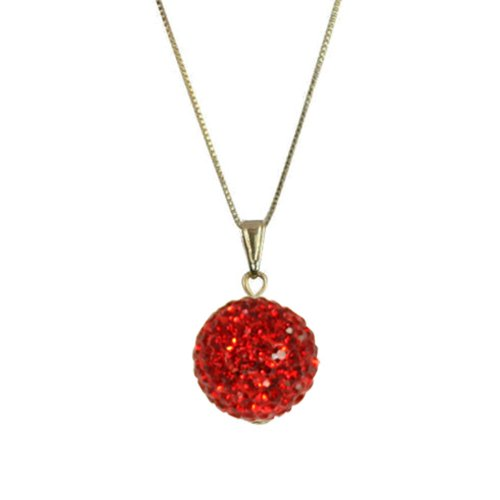 Tarantella Scarlet Diamante 14ct Gold Vermeil Pendant Necklace