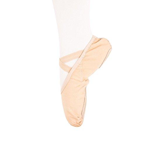 Weicher Ballettschläppchen Tanz geteilte Ledersohle Schuhe Gymnastik Tanzen Hausschuhe für Mädchen Frauen Damen(Bitte wählen Sie eine Größe mehr)