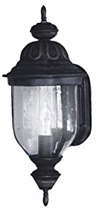 Heath/Zenith SL-4146-RB-A 150-Degree Motion-Activated Oversized Corinthian Style Decorative Lantern, Rustic Brown