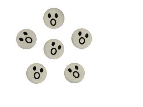Fangcan Silicone Vibration Dampeners for Tennis Squash Racket Pack of 6 (White cries)