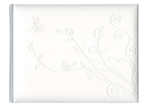 Pierre Belvedere Love Birds Guest Book, Padded Cover, White (987920)
