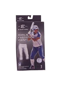 Buy Large (Size 14-16) White Easton Youth Girls Fastpitch Pant ~ Low-Rise Elastic... by Easton