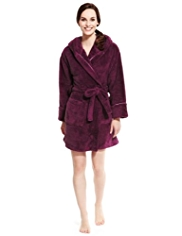 Petite Supersoft Hooded Cosy Dressing Gown