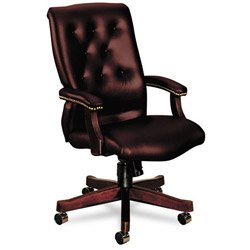 Hon High-Back Executive Chair, 25-3/4 by 29-1/2 by 44-3/4-Inch, Oxblood Vinyl