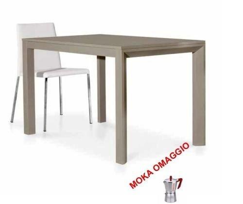TABLES&CHAIRS tavolo tortora allungabile rettangolare effetto legno moderno 690 130x85x77