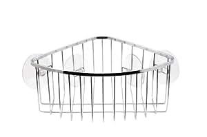 InterDesign Suction Corner Basket, Chrome Finish Stainless Steel