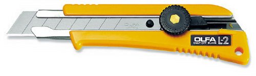 6 Pack Olfa 5004 18Mm Heavy-Duty Ratchet-Lock Snap Off Utility Knife With Rubber Grip Insert (L-2)