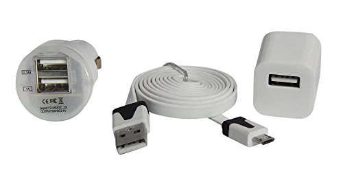 Ycs Basics White Cellphone Charging / Sync Travel Set