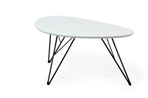 bonVIVO-Design-Couchtisch-RAY-Beistelltisch-Nierentisch-im-50er-Jahre-Retro-Look-in-wei-und-Metall-Fen-in-schwarz-black-90-x-60-cm