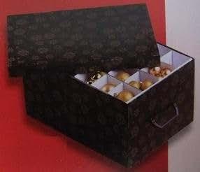 mq aufbewahrungsbox organizer kiste box f r weihnachtskugeln aufbewahrung kugeln schwarz. Black Bedroom Furniture Sets. Home Design Ideas