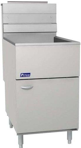Pitco 65C+S 80 lb. Floor Model Natural Gas Fryer | 150,000 BTU, Single Pot (Pitco Deep Fryer compare prices)