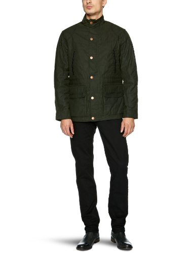 Timberland Wax Solid Broadview Men's Coat Forest Night Small