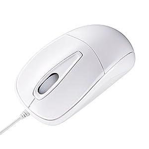 サンワサプライ 静かなクリック音とホイール回転音の静音マウス ホワイト MA-122HW