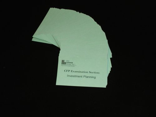 CFP Exam Flashcard Review System (Part 2-Investment