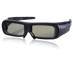 Wisedeal Unisex 120-240 Hz 3D Active Shutter Infrared Glasses (Black)