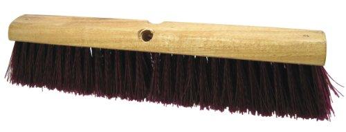 Regal 90320 Wood Block Floor Broom Head with Polypropylene Filament, 3-1/4 Trim, 18 Width (Case of 6) magnolia 5624 24 inch garage floor broom