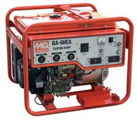 Multiquip GA6HEB Portable Generator with Honda Motor, 9.5 HP, 120/240 VOLT, 6000 WATT Output