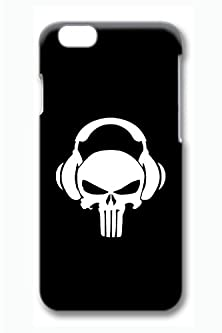 buy Vuttoo Iphone 6 Case, 6 Case - Vuttoo Ultra Thin Hard Case For Iphone 6 With The Punisher With Headphone On Print Pattern Slim Fit Hard Back Cover Case For Iphone 6 4.7 Inches
