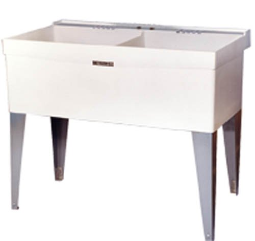 Double Laundry Sink With Cabinet : Double Bowl Laundry Tub Utility Sink
