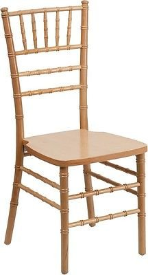 Elegance Supreme Natural Wood Chiavari Chair - Special Events and Weddings