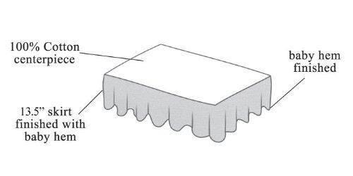 Imagen de American Baby empresa 100% algodón percal Ruffle Crib Skirt, White
